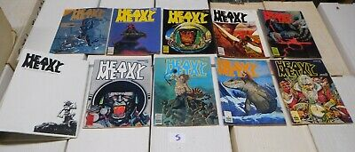 Heavy Metal Magazine Complete First Year April-December 1977 + BINDER LOT 5