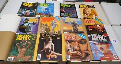 Heavy Metal Magazine 6th Complete Year 1982 with mailing covers Jan-Dec LOT 10