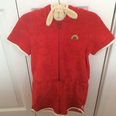 Little Bird-BRAND NEW-Retro Red Towelling'Playsuit'(shorts)Age:2/3Years-FreePost