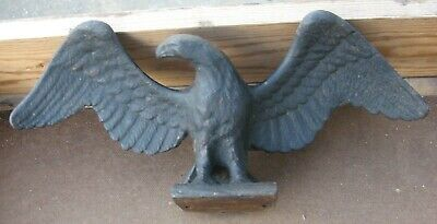 Old Cast Iron Eagle Statue For Gate Fence Post Windmill Weight Farm Home