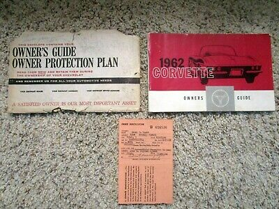 1962 Corvette Factory GM Owners Manual Third and Final Edition Extremely Rare