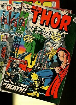 Thor 189,190,192 * 3 Book Lot * Marvel Comics! Mighty God of Thunder! Vol.1!