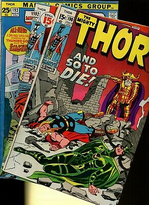 Thor 190,192,193 * 3 Book Lot * Marvel Comics! Mighty God of Thunder! Vol.1!