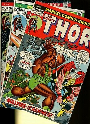 Thor 210,211,212 * 3 Book Lot * Marvel Comics! Mighty God of Thunder! Vol.1!