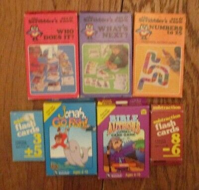 Lot of HOMESCHOOL FLASH / Scribber's CARDS, EDUCATIONAL 1st and 2nd grade