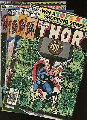 Thor 300,301,302,305,306,307 * 6 Book Lot * Marvel Comics! God of Thunder! Vol.1