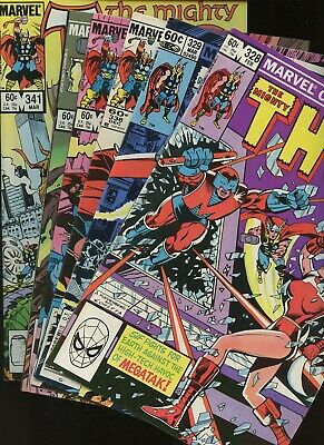 Thor 328,329,338,339,340,341 * 6 Book Lot * Marvel Comics! God of Thunder! Vol.1