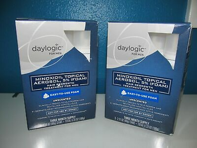 Daylogic Mens 5% Minoxidil LOT 2X3=6 Month Hair Regrowth Supply Cmp Rogaine 4/20
