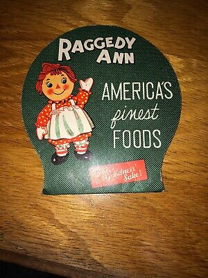 Vintage 1950's Raggedy Ann America Finest Foods Sewing Needle Book Made in Japan