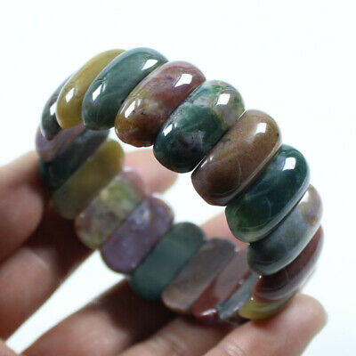 Natural Grade A Agate Chalcedony Multi-color Jade Beads Hand catenary a1566
