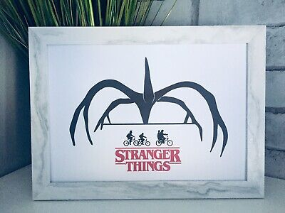 Stranger Things Wall Art Bed Dressing Room, picture poster decor kitchen Film A4