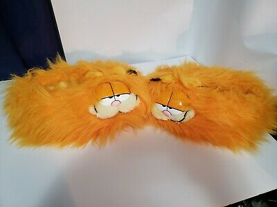 Vintage 1981 Garfield Slippers Size Large 9-10 good condition