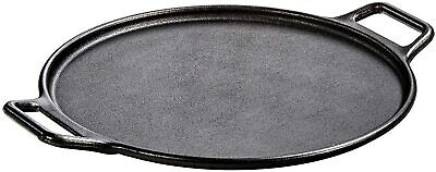 Large Cast Iron Pizza Pan Griddle Vintage Look Round Lightly Pre-Seasoned 14Inch