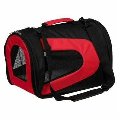 NWT Red and Black Pet Life Airline Approved Folding Pet Carrier Small Cats/Dogs
