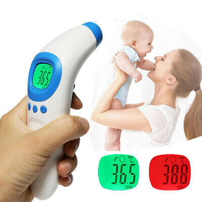 No Touch Infrared Forehead Thermometer Digital Body Temperature Gun Baby Adult