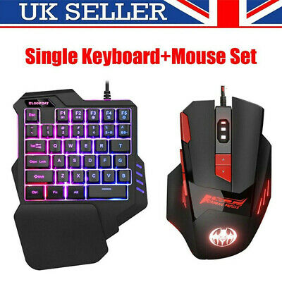 USB Keyboard +Mouse Set Anti-slip Wheel Backlight For PC PS4 Xbox One 360 Gaming