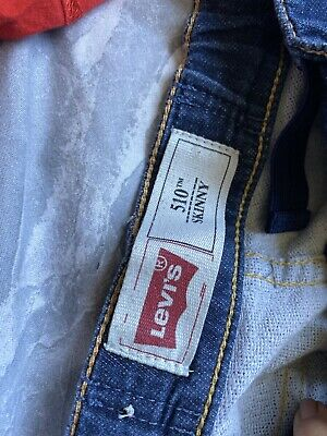 Levis Blue Boys Ripped Jeans 510 Skinny Size 10
