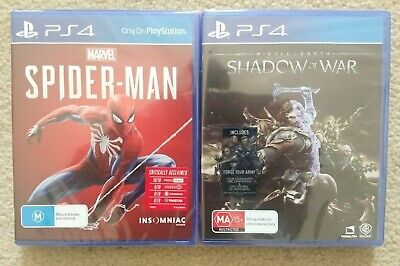 New Spider-Man & Shadow of War Playstation 4 PS4 Games