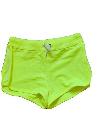 H&m Girls Neon Yellow Sports Active Nineteen 95 Shorts Age 10-11 Years Bnwot