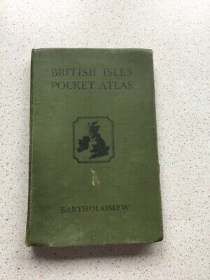 The British Isles Pocket Atlas For Touring Colour Maps In 1941 A Nice Old Book