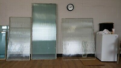 glass panels - fluted/ribbed excellent vintage