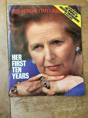 Vintage the Sunday Times Magazine April 30, 1989. Margaret Thatcher Cover