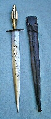 antique 19thc Spanish Albacete punal dagger Spain fighting knife sword European