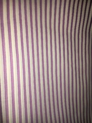 "Cotton purple And White stripes Quilt Fabric  3 Yds X 36"" NEW"