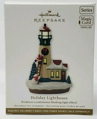 2012 Hallmark Ornament Holiday Lighthouse #1 in Series Magic Light