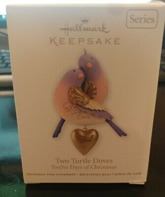 2012 Hallmark Ornament Two Turtle Doves Twelve Days of Christmas