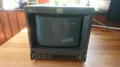 "Broadcast Monitor Sony BVM 9045QM 9"" Gaming, Vintage, Video Editing * Scratches!"