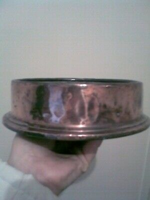Antique copper bowl sherward makers nottingham electro plating  on base bar pub