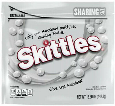 Limited Edition Pride White Skittles 2020 15.60 Ounce Bag 🔥 FREE SHIPPING 🔥