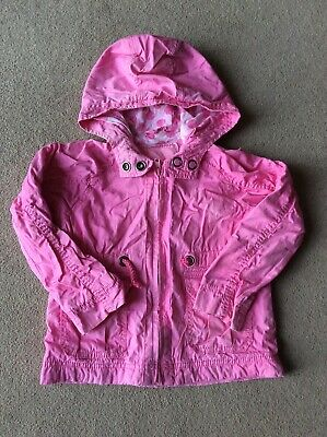Girls Age 3-4 Pink Lightweight Hooded Jacket By NEXT