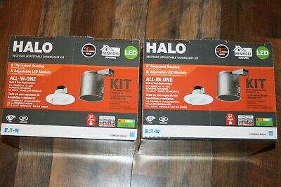 2X Halo 6IN Remodel Housing with LED Gimbal