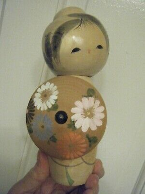 """Japanese Wooden Doll 7"""" Tall"""