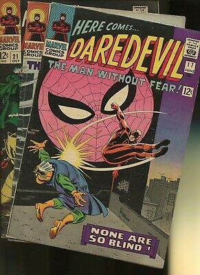 Daredevil 17,18,21 * 3 Book Lot * Marvel Comics! Man without Fear! Vol.1,Action