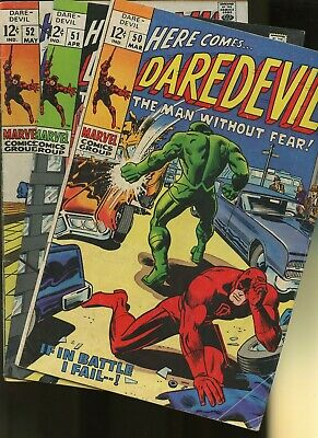 Daredevil 50,51,52 * 3 Book Lot * Marvel Comics! Man without Fear! Vol.1,Action