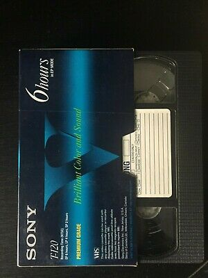 Used VHS TAPE Big Brother 1 - taped off TV sold As Blank