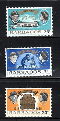 #306 #307 #308 Barbados Stamps Mint Never Hinged  Lot 17363