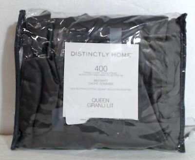 NEW OPEN PACKAGE Distinctly Home 400 TC Egyptian Cotton Bedskirt, Queen $90