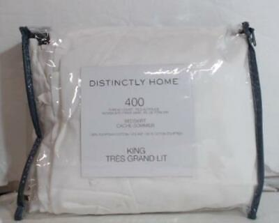 NEW OPEN PACKAGE Distinctly Home 400 TC Egyptian Cotton Bedskirt King White $100