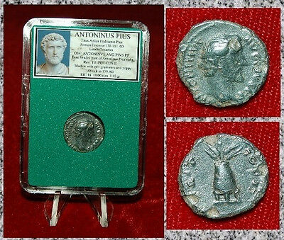 Ancient Roman Empire Coin Of ANTONINUS PIUS  Modius On Reverse Nice Coin!