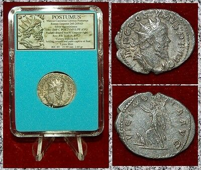 Ancient Roman Empire Coin POSTUMUS Victory On Reverse Silver Antoninianus