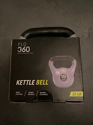 NEW Single Vinyl Coated 15 LB CAP Kettlebell only = 15 Pounds Fitness Training!