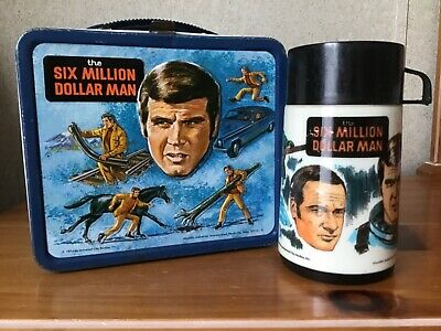 Vintage Six Million Dollar Man Lunchbox And Thermos