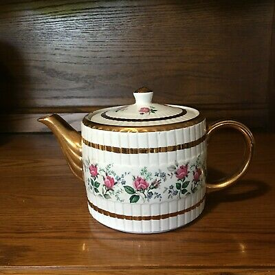 Vintage Ellgreave Ironstone Teapot with Lid, Made in England #378