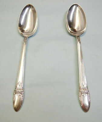 2 First Love Serve Spoons-Popular/Ornate 1937 Rogers Finest