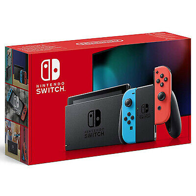 Nintendo Switch Gray Console (v2) with Red/Blue Joy-Con FREE SHIPPING TO CANADA
