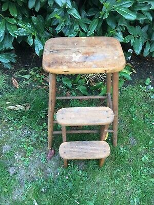 Vintage Rustic Wooden Milking Stool Side Table PICK UP FINCHLEY N33JN
